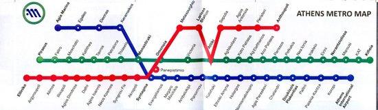 Athene_metro-lijnen