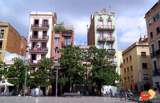 Barcelona_Pleintje-Wijk-Gracia