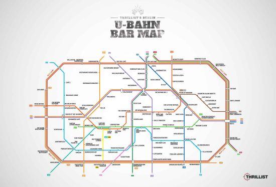 U-Bahn Bar Map