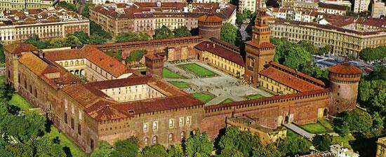 Milaan_monumenten-Castello-Sforzesco